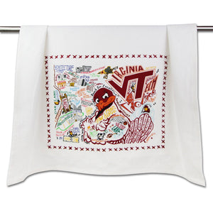 Virginia Tech Collegiate Dish Towel Dish Towel catstudio