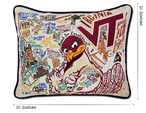 Virginia Tech Collegiate Embroidered Pillow Pillow catstudio