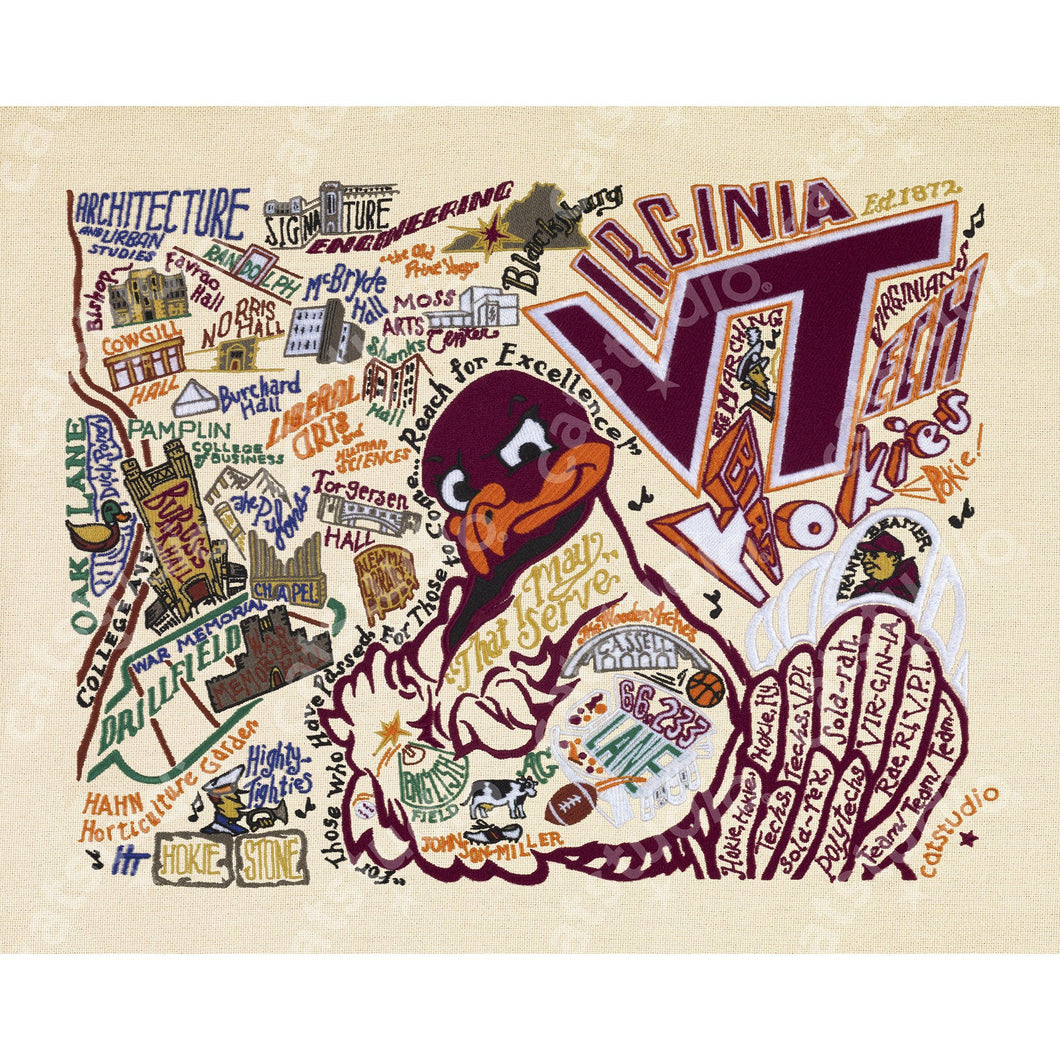 Virginia Tech Collegiate Fine Art Print - catstudio