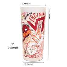 Load image into Gallery viewer, Virginia Tech Collegiate Drinking Glass - catstudio