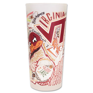 Virginia Tech Collegiate Drinking Glass - catstudio