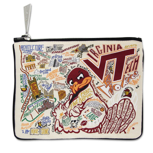 Virginia Tech Collegiate Zip Pouch - catstudio
