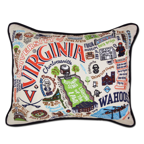 Virginia, University of Collegiate Embroidered Pillow - catstudio