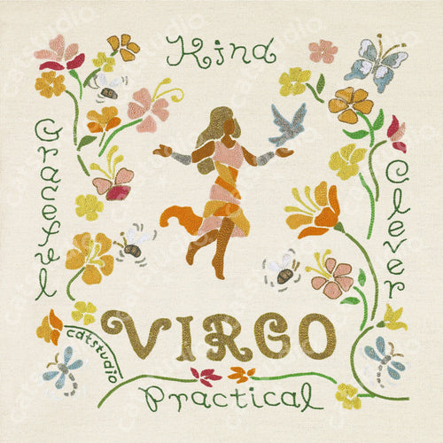 Virgo Astrology Fine Art Print - catstudio