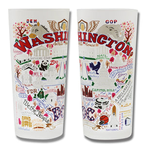 Washington DC Drinking Glass - catstudio