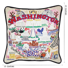 Load image into Gallery viewer, Washington DC Hand-Embroidered Pillow Pillow catstudio