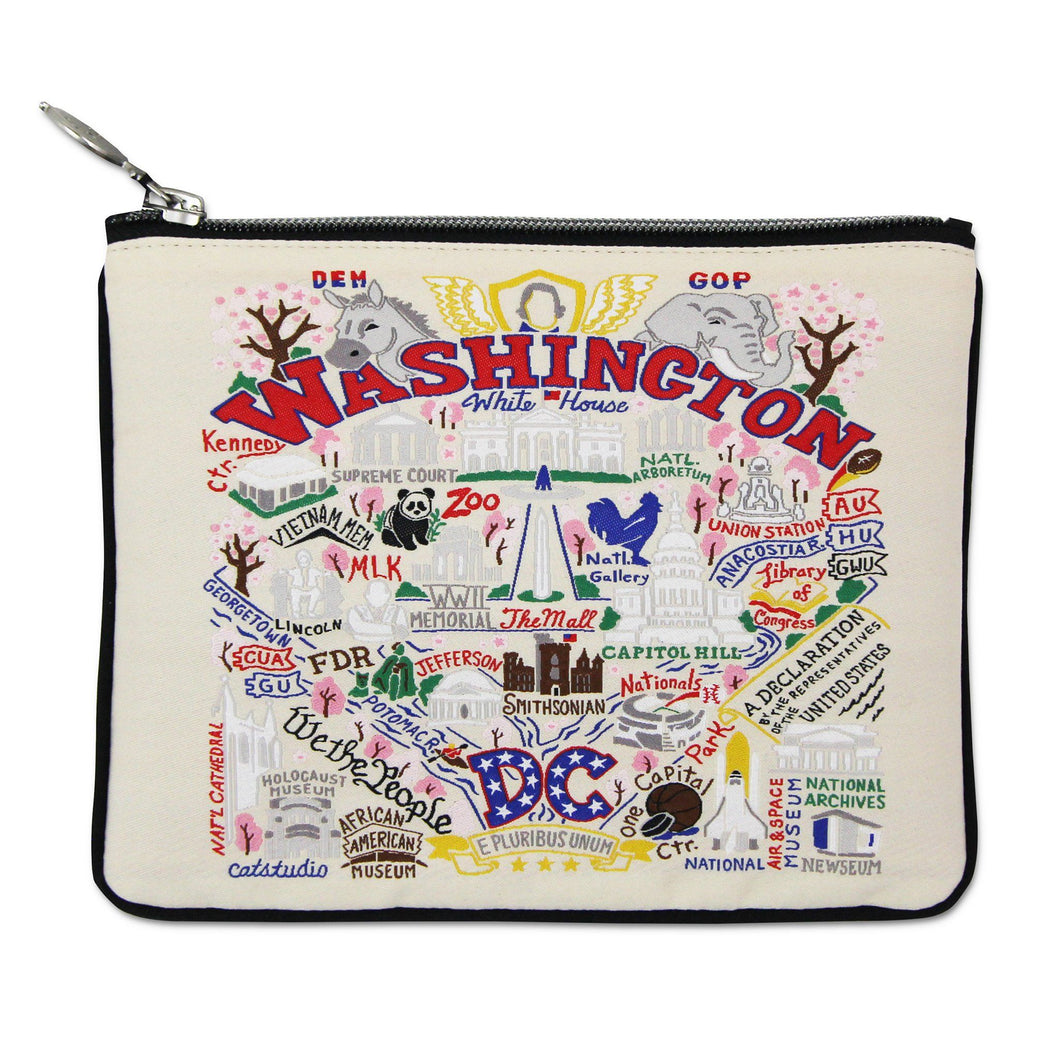 Washington DC Zip Pouch - Natural Pouch catstudio