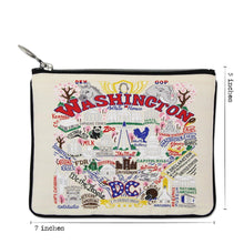 Load image into Gallery viewer, Washington DC Zip Pouch - Natural - catstudio