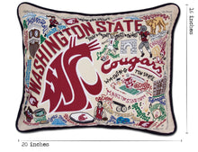 Load image into Gallery viewer, Washington State University Collegiate Embroidered Pillow - catstudio