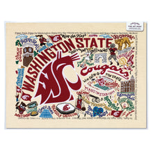 Load image into Gallery viewer, Washington State University Collegiate Fine Art Print - catstudio