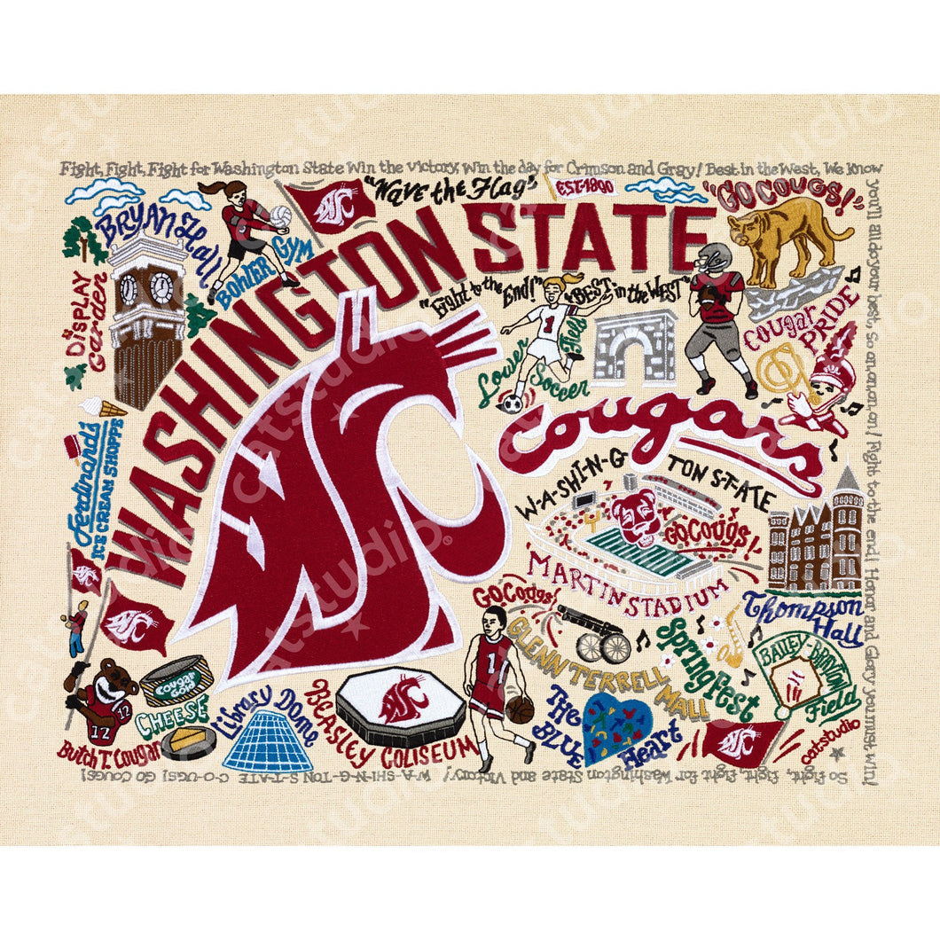 Washington State University Collegiate Fine Art Print - catstudio