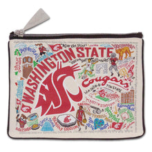 Load image into Gallery viewer, Washington State University Collegiate Zip Pouch - catstudio
