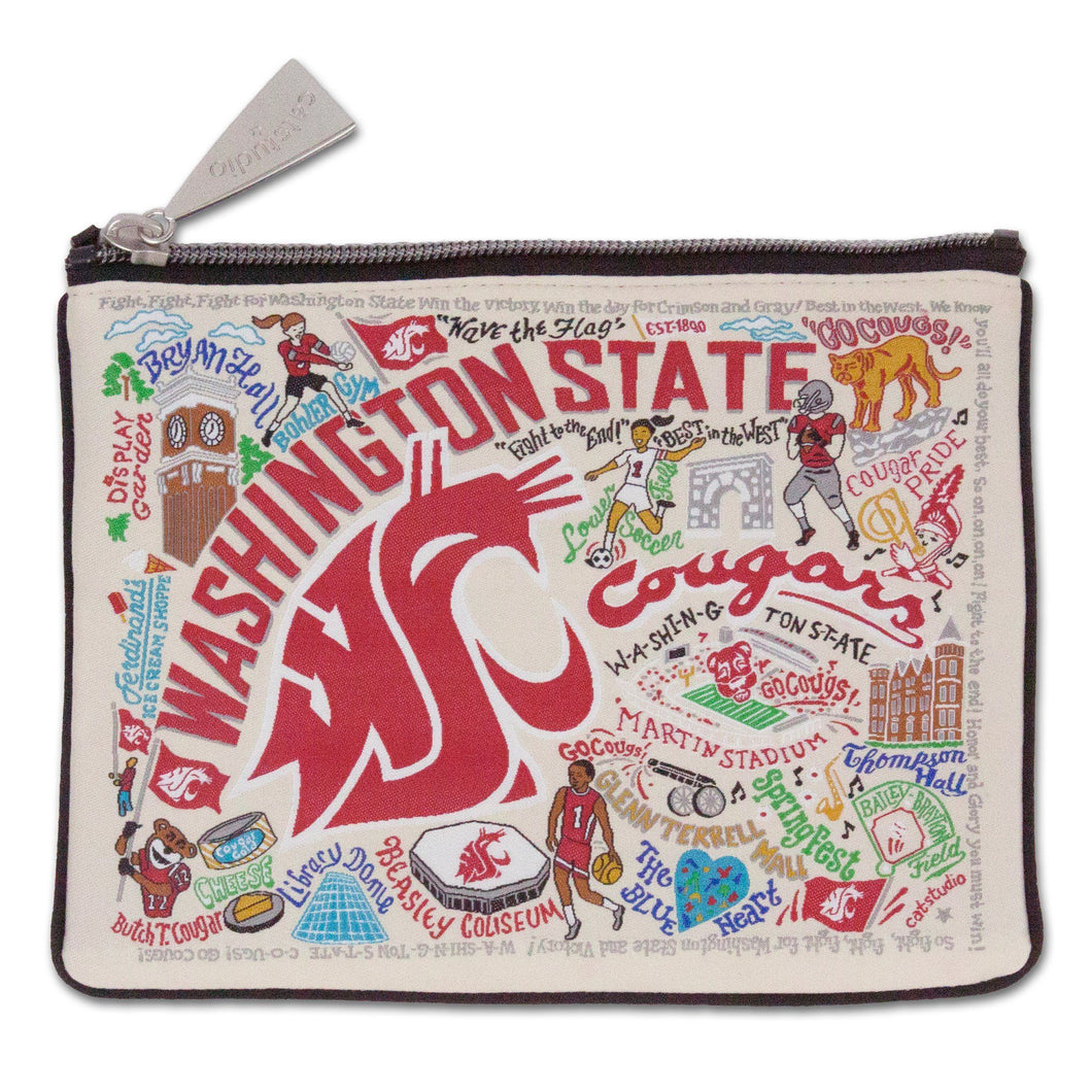 Washington State University Collegiate Zip Pouch - catstudio