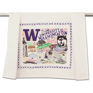 Washington, University of Collegiate Dish Towel Dish Towel catstudio