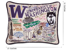 Load image into Gallery viewer, Washington, University of Collegiate Embroidered Pillow - catstudio