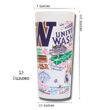 Load image into Gallery viewer, Washington, University of Collegiate Drinking Glass - catstudio