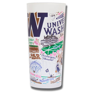 Washington, University of Collegiate Drinking Glass - catstudio