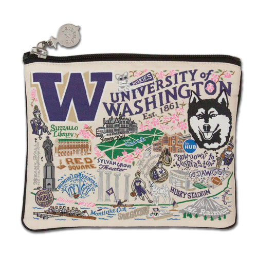 Washington, University of Collegiate Zip Pouch - catstudio