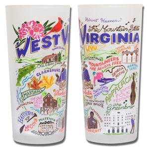 West Virginia Drinking Glass - catstudio