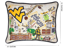 Load image into Gallery viewer, West Virginia University Collegiate Embroidered Pillow - catstudio