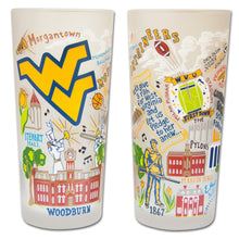 Load image into Gallery viewer, West Virginia University Collegiate Drinking Glass - catstudio
