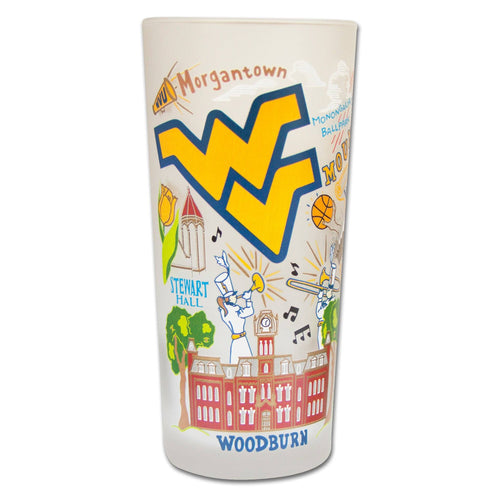 West Virginia University Collegiate Glass Glass catstudio