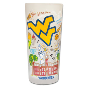West Virginia University Collegiate Drinking Glass - catstudio