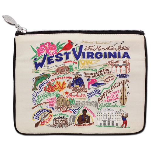 West Virginia Zip Pouch - Natural - catstudio