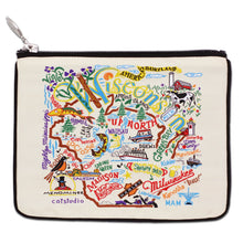 Load image into Gallery viewer, Wisconsin Zip Pouch - Natural - catstudio