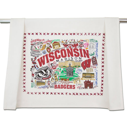 Wisconsin, University of Collegiate Dish Towel Dish Towel catstudio