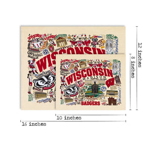 Wisconsin, University of Collegiate Fine Art Print - catstudio