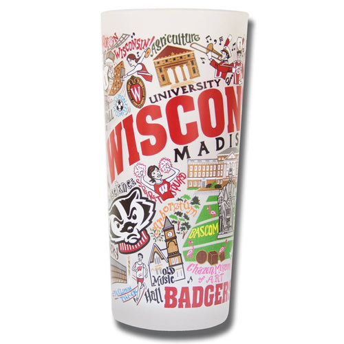 Wisconsin, University of Collegiate Drinking Glass - catstudio