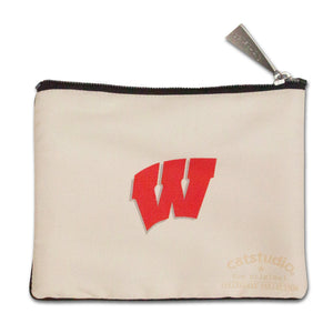 Wisconsin, University of Collegiate Zip Pouch - catstudio