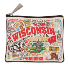 Load image into Gallery viewer, Wisconsin, University of Collegiate Zip Pouch - catstudio