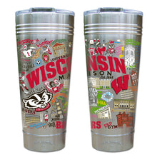 Load image into Gallery viewer, Wisconsin, University of Collegiate Thermal Tumbler (Set of 4) - PREORDER Thermal Tumbler catstudio