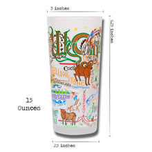 Load image into Gallery viewer, Wyoming Drinking Glass - catstudio