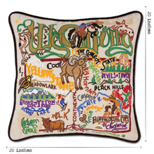 Load image into Gallery viewer, Wyoming Hand-Embroidered Pillow - catstudio