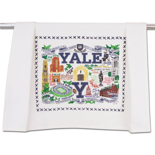 Yale University Collegiate Dish Towel - catstudio