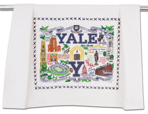 Yale University Collegiate Dish Towel Dish Towel catstudio