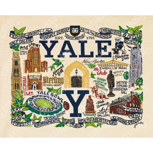 Yale University Collegiate Fine Art Print - catstudio