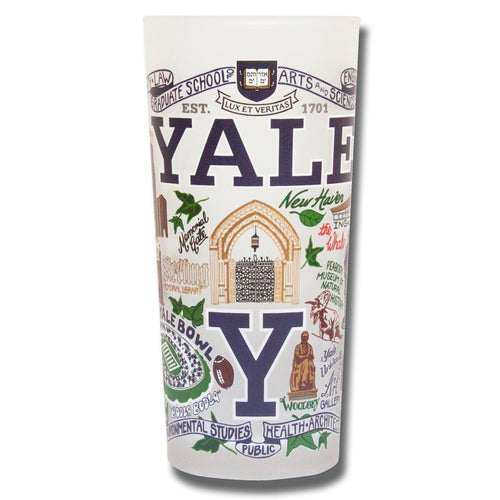Yale University Collegiate Drinking Glass - catstudio
