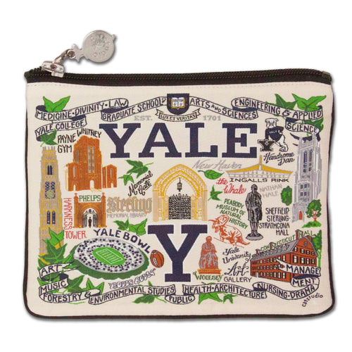 Yale University Collegiate Zip Pouch - catstudio
