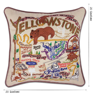 Yellowstone Hand-Embroidered Pillow Pillow catstudio