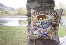 Load image into Gallery viewer, Yellowstone Hand-Embroidered Pillow Pillow catstudio