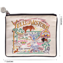 Load image into Gallery viewer, Yellowstone Zip Pouch - Natural Pouch catstudio
