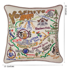 Load image into Gallery viewer, Yosemite Hand-Embroidered Pillow - catstudio