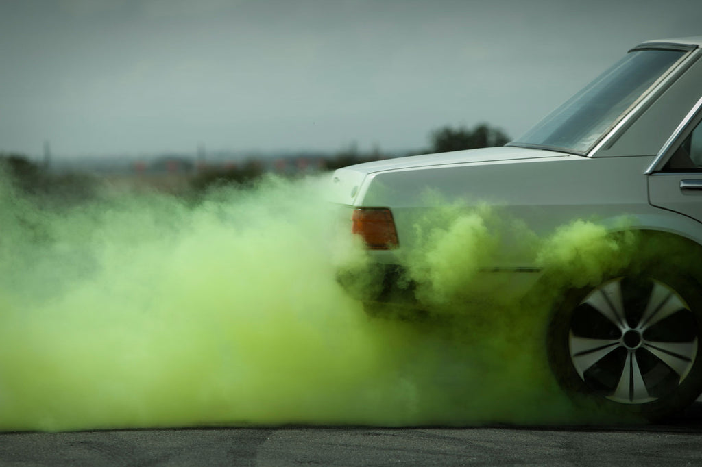 Kane Skennar Photographer-Green smoke from Muscle car burn out