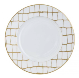 Alligator Gold Dinner Plate