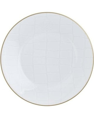Alligator White Salad Plate