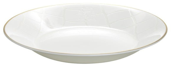 Alligator White Soup Plate